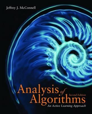 Analysis of Algorithms By McConnell, Jeffrey J.