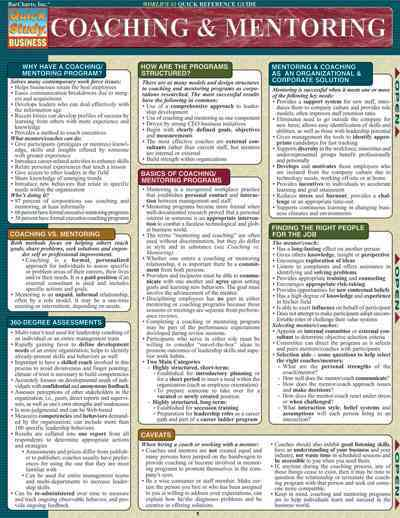 Coaching & Mentoring Quick Reference Guide By Berger, Toby
